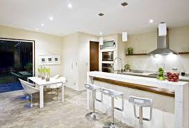 kitchen design cool white table chairs bar stools dishwasher bay