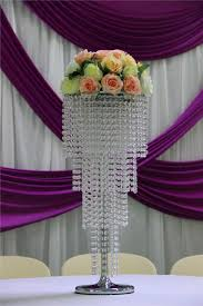 80cm h crystal wedding centerpiece flower stand table decor wedding chandelier wedding supply 10 pcs lot in vases from home garden on aliexpress com