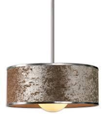 Linen Pendant Light Large Drum Light Metal Drum Chandelier Ceiling Pendant Light