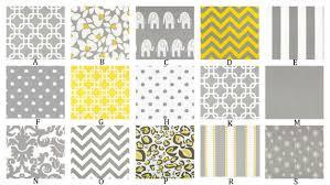 Yellow And Gray Crib Bedding Set Gray And Yellow Custom Crib Bedding Set You Design Yellow