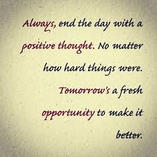 end the day with a positive thought the bridgemaker