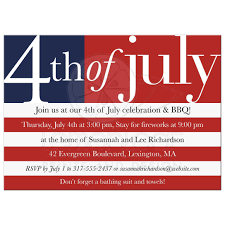 Independence Flag Day Party Invitation Us Flag 4th Of July