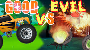 Scary Halloween Monsters by Good Vs Evil Monster Trucks Scary Halloween Cars For Toddlers