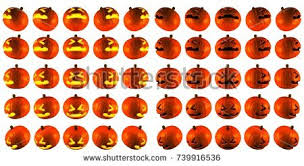 light up jack o lantern 3d rendering light normal painful jack stock illustration 739916536