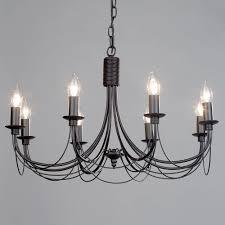 somerset chandelier 8 light black from litecraft
