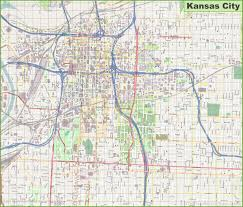 Kansas City Map Large Detailed Map Of Kansas City