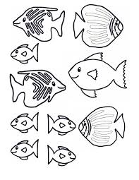 fish template cut out coloring pages clip art library