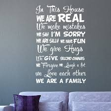 high quality family wall decal quotes buy cheap family wall decal in this house family quote wall decal vinyl sticker for home decor china mainland