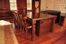 hand scraped alder kitchen island mekkelek custom woodwork