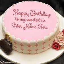 online birthday cake maker for sister name generator