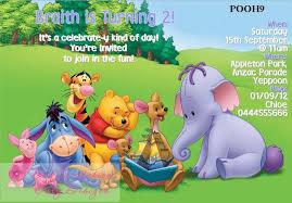 colors elegant winnie the pooh birthday invitations free