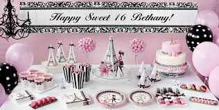 sweet 16 party decorations pink sweet 16 party supplies party city canada