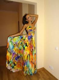 coloured dress dress beautiful formal gown floor length colorful
