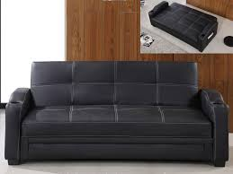 vente unique canap convertible canapé convertible clic clac simili mirella noir ou blanc