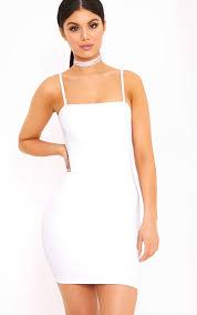 white dress desri white neck bodycon dress dresses