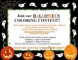 halloween coloring contest at abari orthodontics