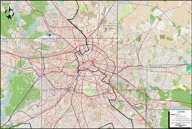 Urban Map Berlin Potsdam 1958