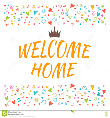 home design elements welcome home text with colorful design elements cute greeting c