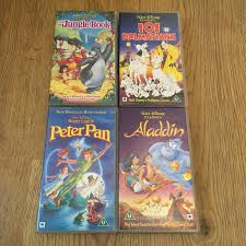 walt disney classics vhs video tapes aladdin jungle book