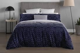sheridan challis quilt cover dark blue
