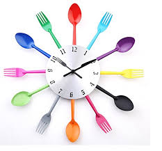 Modern Clocks For Kitchen by Diy Modern New Design Wall Clock Knife Fork Spoon Clocks Kitchen