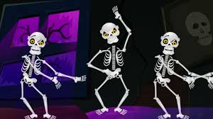 five little skeletons jumping on the bed nursery rhymes and