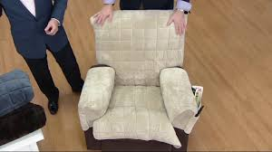 sure fit ultra deluxe recliner stretch furniture cover on qvc