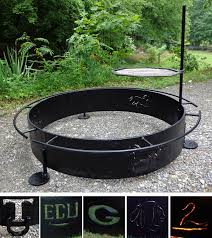 Fire Pit Ring With Grill by Custom Copperworks U0026 Blacksmith Brad Greenwood Designs