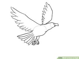 4 ways draw eagle wikihow