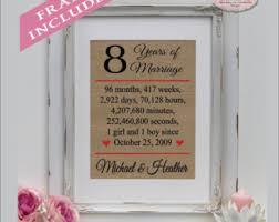 8 year wedding anniversary gift 8 year for etsy