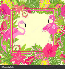 wallpaper with pink flamingos beautiful hawaiian wallpaper exotic flowers tropical leaves pink