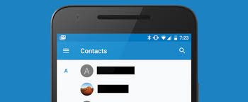 contacts apk apk contacts 1 5 adds hamburger menu labels and