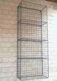 Metal Wall Shelving by Vintage Industrial Style Metal Wall Shelf Unit Storage Cupboard