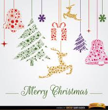 christmas ornaments hanging background free vector download 341837