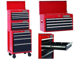 Cabinet Tools Hyper Tough 2 Drawer Roller Seat Tool Box Chest Cabinet Rolling