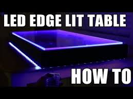 Words With Light In Them Led Edge Lit Table How To Youtube