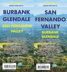 map of burbank ca san fernando valley glendale burbank california map