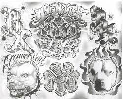 black ink traditional gangsta boog tattoo flash u2013 truetattoos