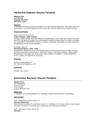 Mechanical Resume Samples For Freshers Resume Bank Resume Samples