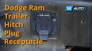 how to install replace trailer hitch plug receptacle 1998 10 dodge