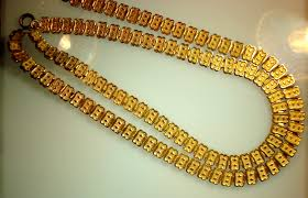 solid gold chain necklace images Original victorian 9 karat gold book chain necklace facets of jpg