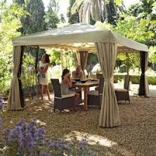 tonnelle de jardin avec moustiquaire tonnelle cabris 4 25 x 3m taupe castorama