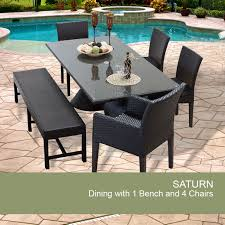 patio table with bench wicker outdoor table design furnishings