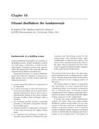 chapter 18 ethanol distillation the fundamentals