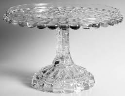 Crystal Pedestal Cake Stand Greensburg Cut Log At Replacements Ltd Page 1