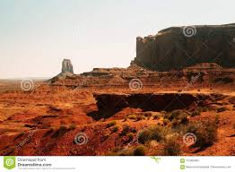 Ancient desert landscape and cliffs of the monument valley utah