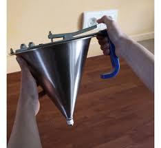 piston cuisine entonnoir à piston 1 5l tout inox avec support et 3 douilles