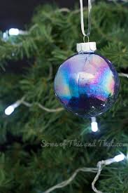 diy glitter galaxy christmas ornaments some of this and that