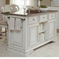 kitchen island with granite liberty furniture magnolia manor dining kitchen island with