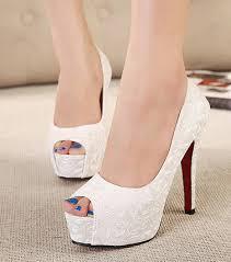 wedding shoes high 2015 new sweet white wedding shoes bottom high heels platforms